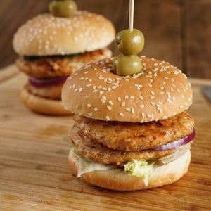All-Natural Organic Free-Range Sugar-Free Chicken Burgers (4pc) - Horizon Farms