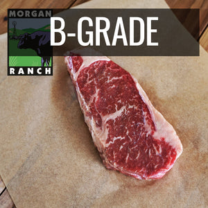 Morgan Ranch Beef Striploin Steak B-Grade (340g) - Horizon Farms