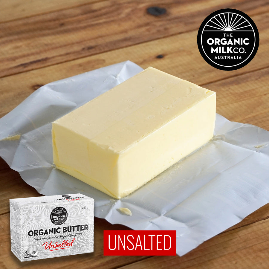 Certified Organic 100% Grass-Fed Unsalted Butter (250g) - Horizon Farms