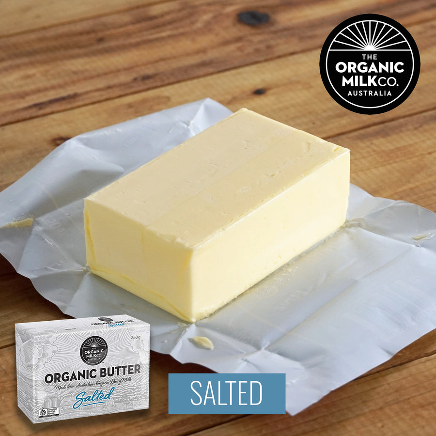 Certified Organic 100% Grass-Fed Salted Butter (250g) - Horizon Farms