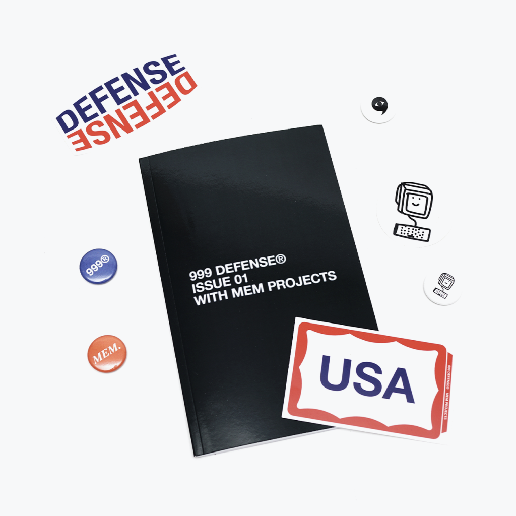 999 DEFENSE® Zine Issue 01 with MEM Projects