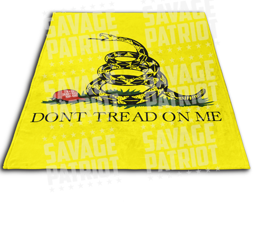 Gadsden Flag Blanket KAG Edition
