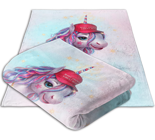 MAGA Unicorn Blanket