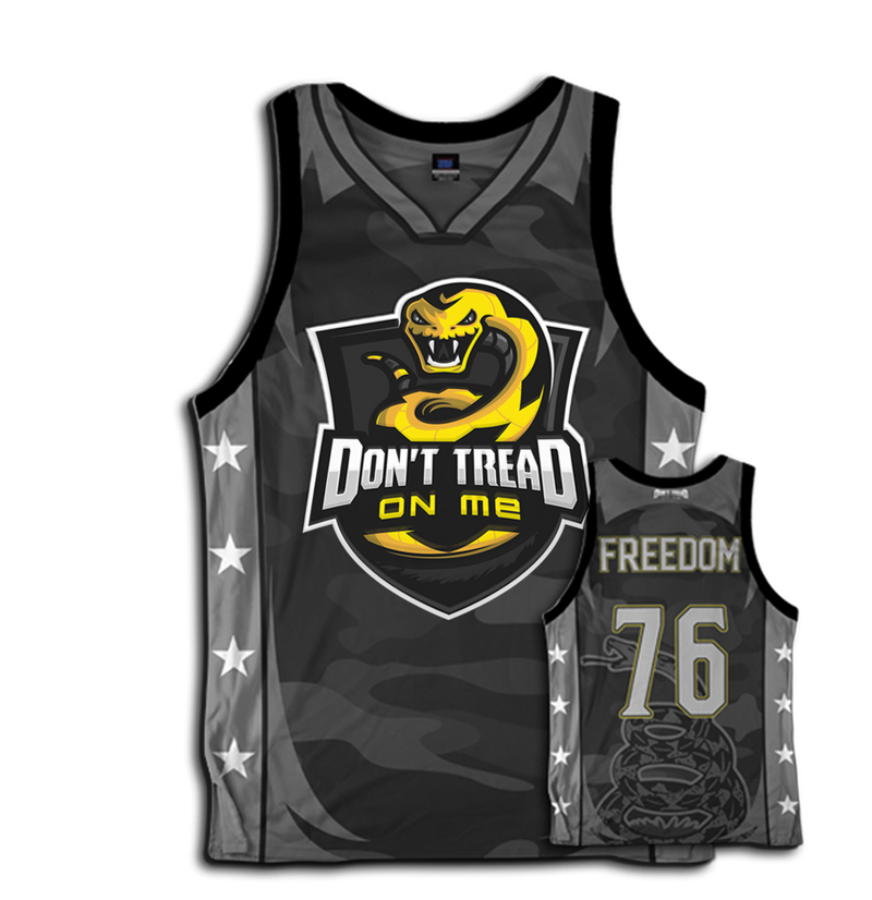 Don't Tread on Me Basketball Jersey. Nothing says freedom more than than this 1776 jersey.