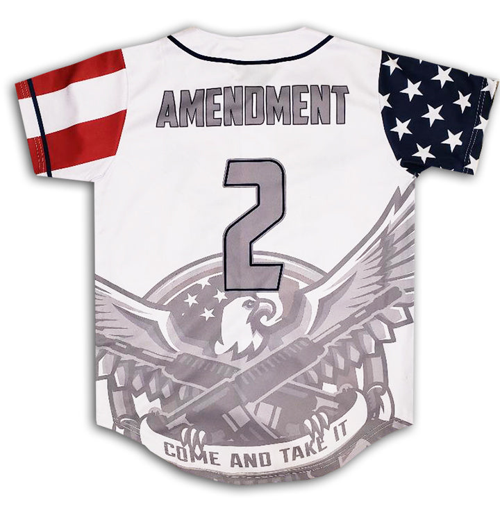 Come and Take It 2nd Amendment Baseball Jersey