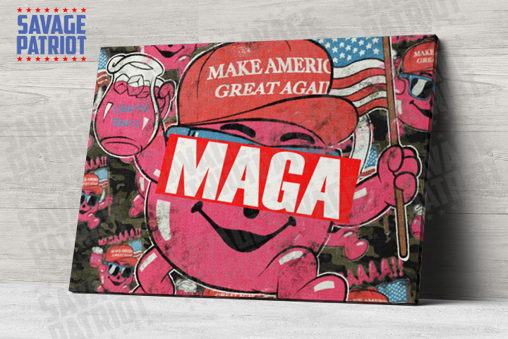 It's Cool to MAGA Canvas -- Savage Edition