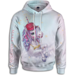 Everything is more magical when you have a MAGA unicorn hoodie! Rock this patriotic hoodie with American pride. We have awesome patriotic clothing and Trump merchandise.