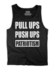 Pull Ups Push Ups Patriotism Tank Top