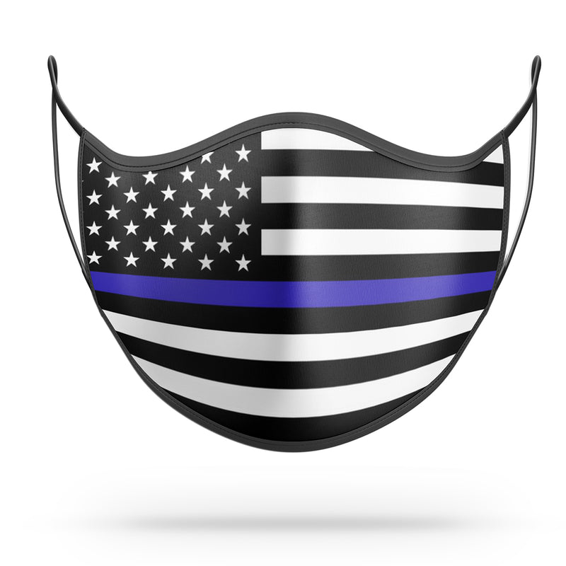 Blue Lives Matter Face Mask