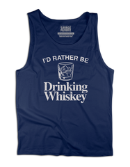 I'd Rather Be Drinking Whiskey Tank Top