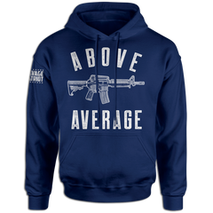 Let everyone know what kind of heat you pack, because size matters. This Above Average hoodie is a must have for any patriot. Guns are cool and so is this second amendment hoodie. This will go great with the rest of your patriotic clothing wardrobe.