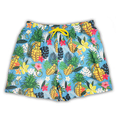 Pineapple Paradise Men's Swim Trunks Super Stretch Pineapple Swim Shorts 5 Inch Pool