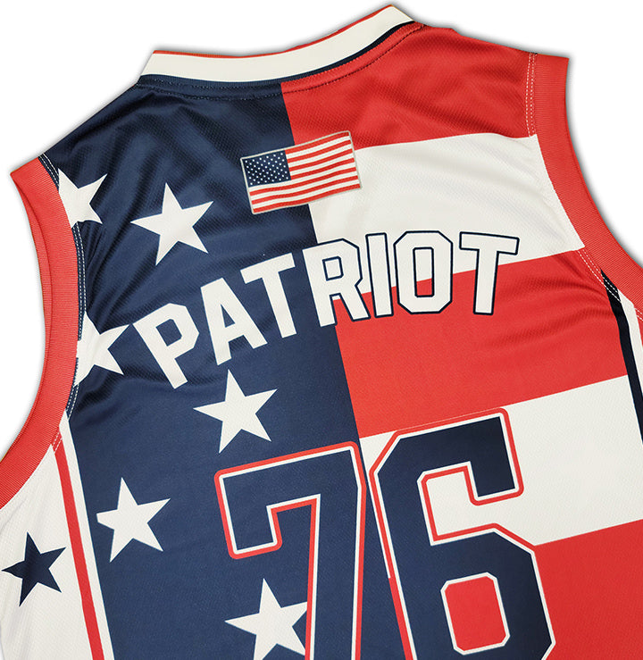 USA 1776 Patriotic Basketball Jersey