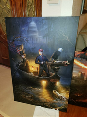 Donald Trump Savage Journey canvas