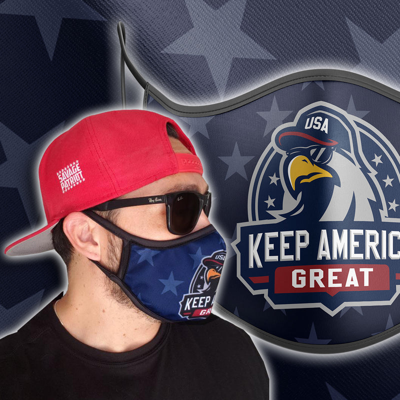 Keep America Great (Bird) Face Mask