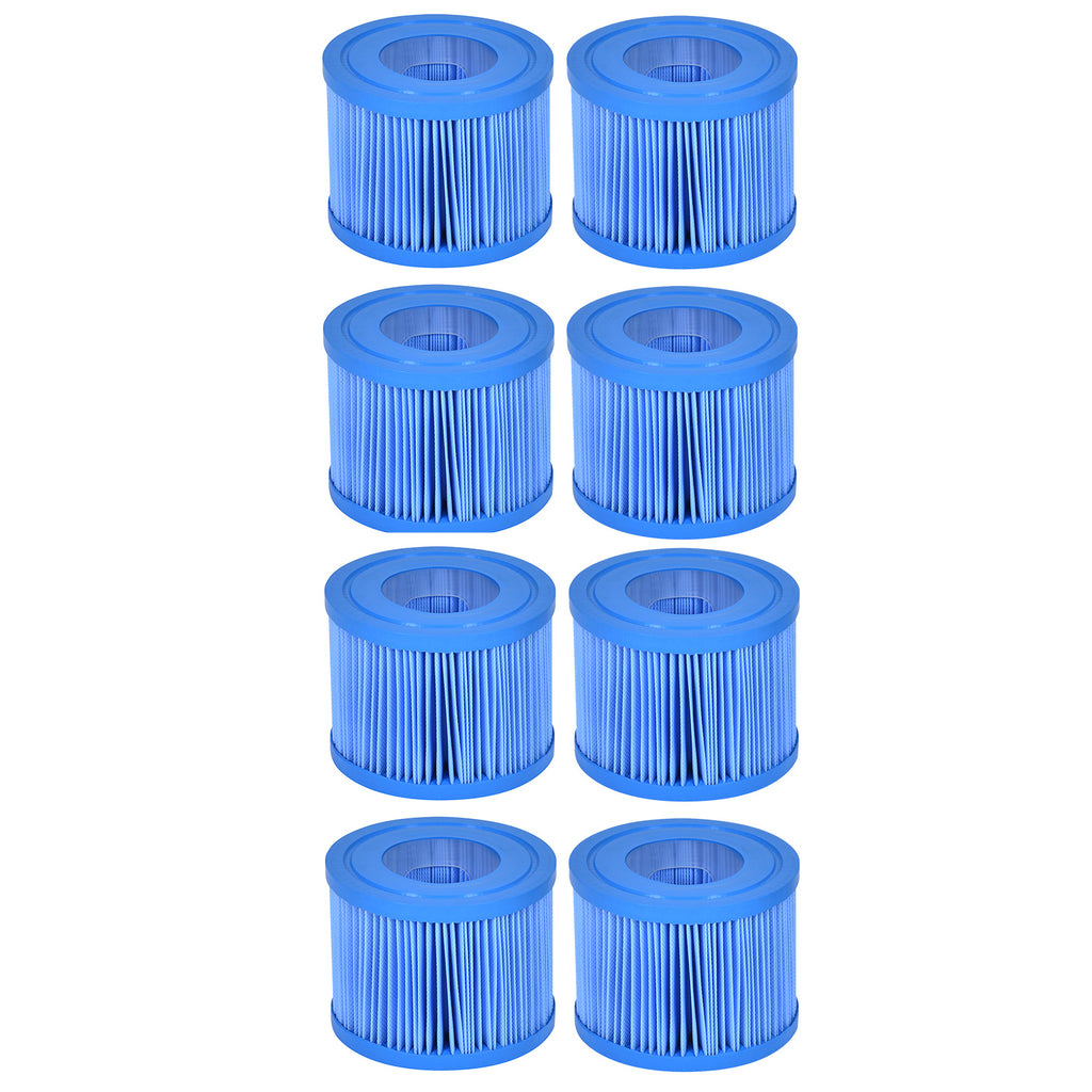 Wave Spa Anti-Bacterial Replacement Filter Cartridge - 8 Pack (2020 Onwards)