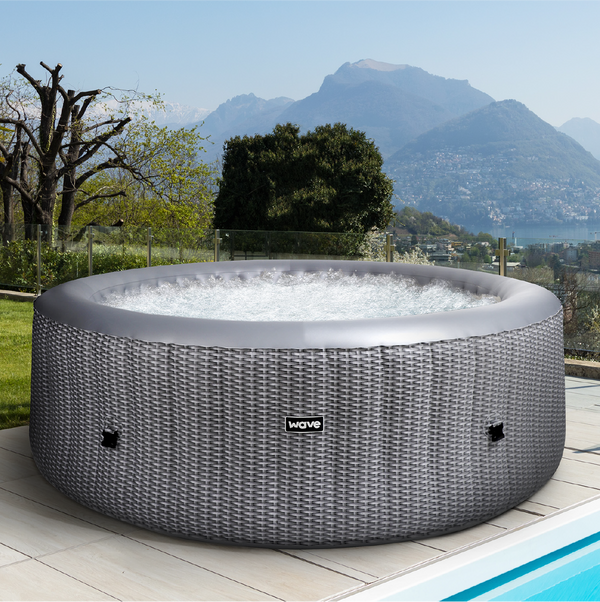 PRE-ORDER (Delivery 7th July 2021) - Atlantic Plus Grey Rattan Inflatable Hot Tub (4-6 Person)