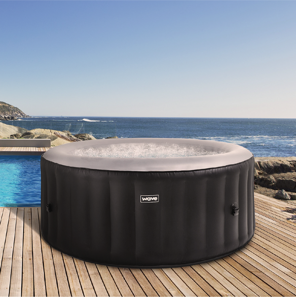 PRE-ORDER (Delivery 16th June 2021) - Wave Spa Atlantic Black Inflatable Hot Tub (2-4 Person)