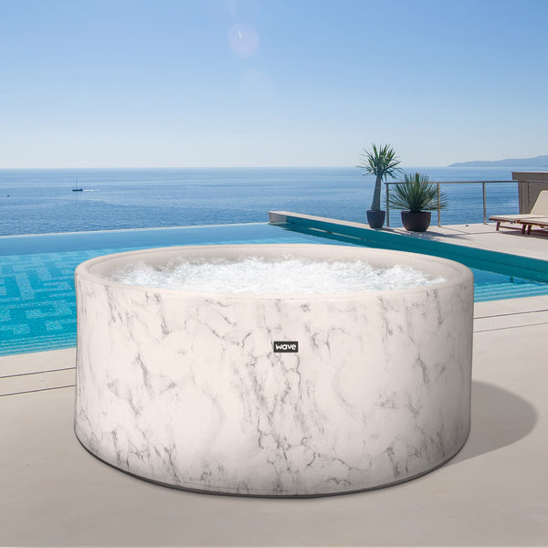 PRE-ORDER (Delivery 7th July 2021) - California Drop Stitch Marble High Pressure Inflatable Hot Tub (2-4 Person)
