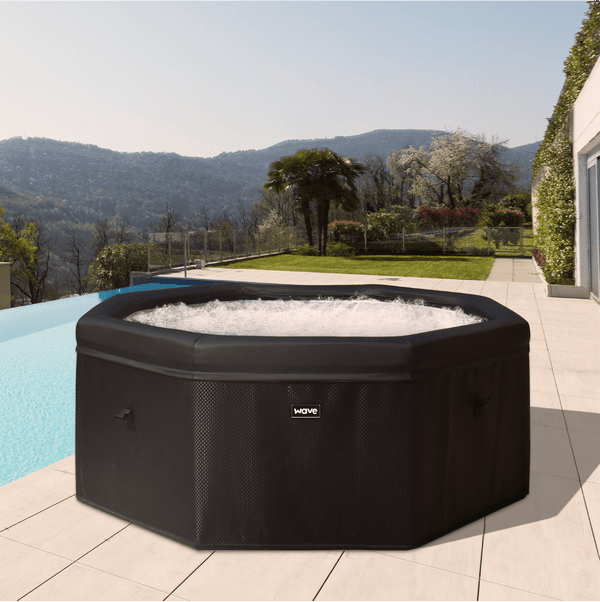 PRE-ORDER (Delivery 7th July 2021) - Swift Rigid Foam Hot Tub - Rattan (4-6 Person)