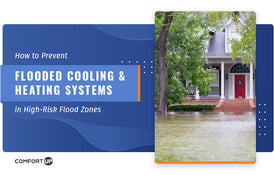 how to prevent flooded cooling and heating systems in flood zones