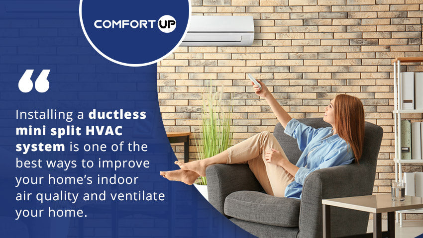 Installing a ductless mini split HVAC system