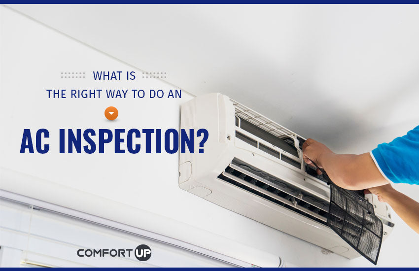 what is the right way to do an a/c inspection