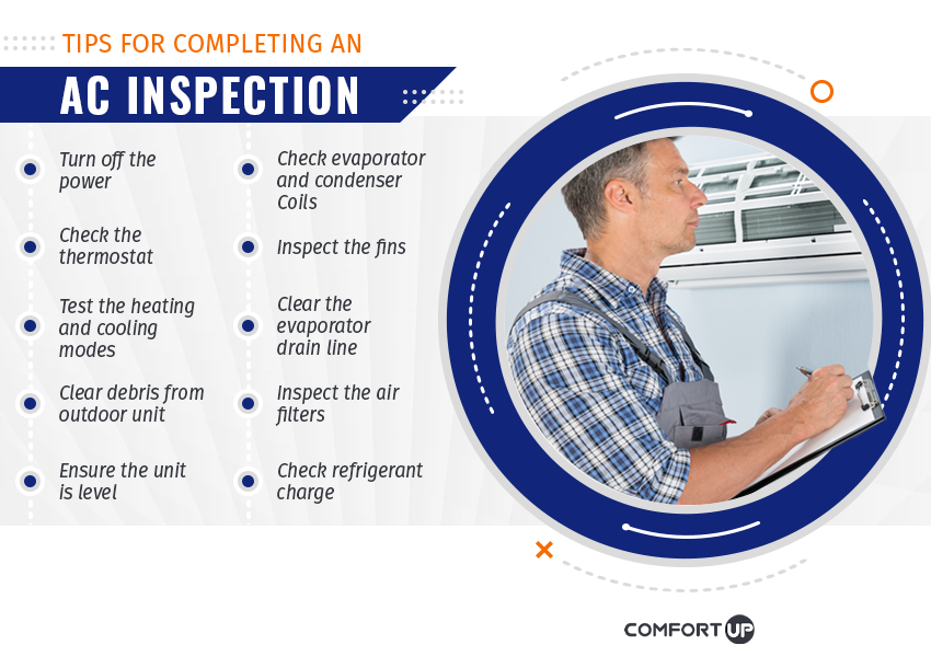 tips for completing an a/c inspection