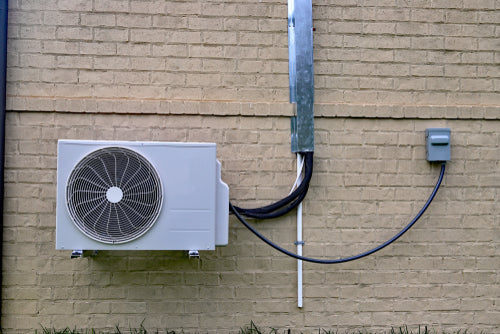 air conditioning system on outdoor wall