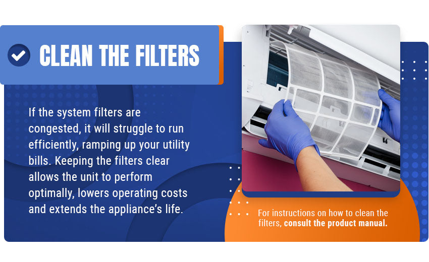 clean the filters