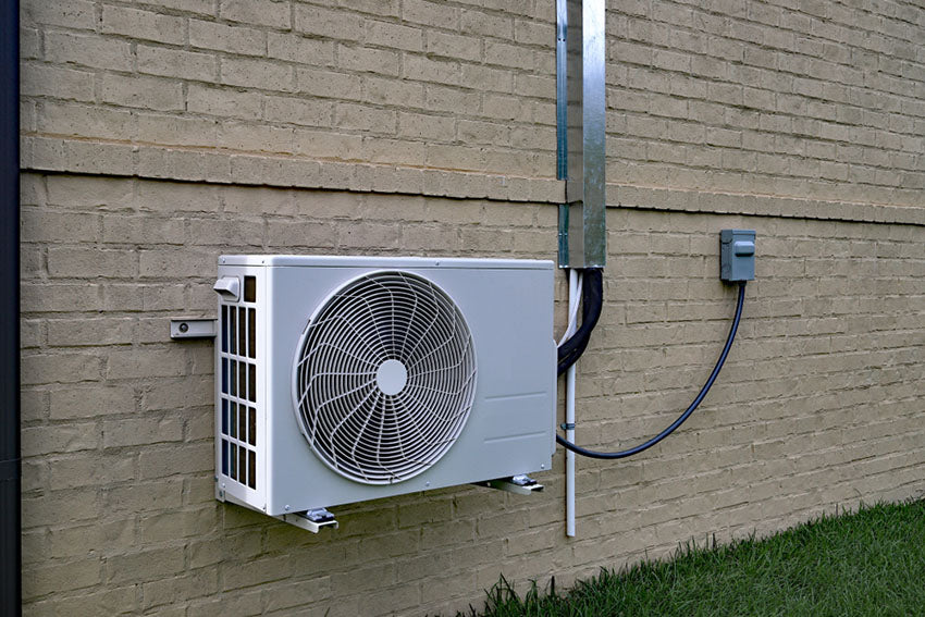 ductless mini split mounted outdoors