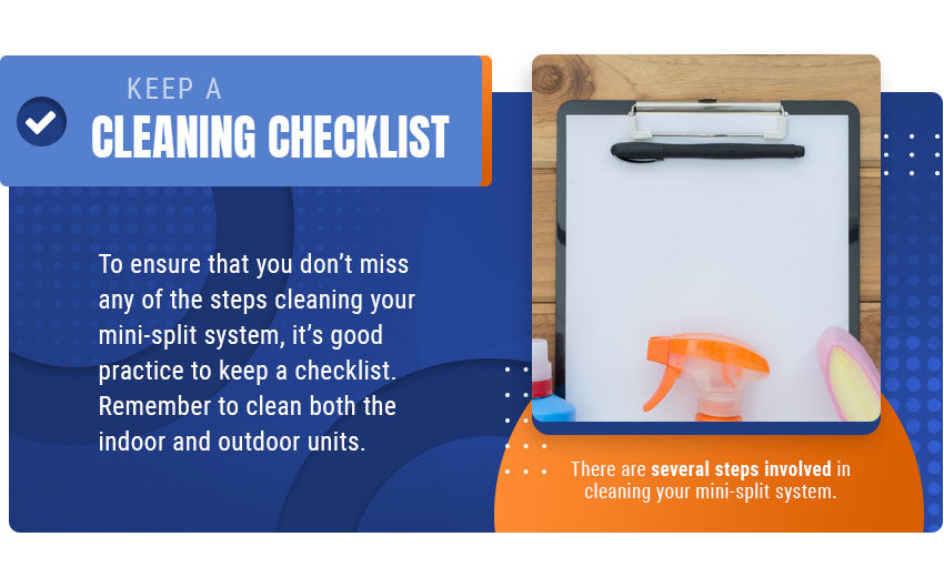keep a cleaning checklist