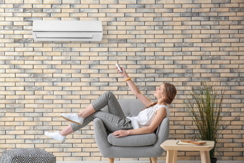 remote controlling ductless mini split