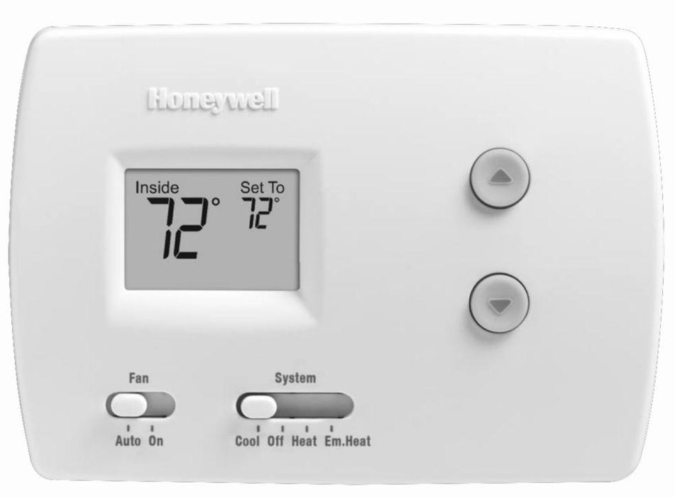 Honeywell TH3210D1004/U - PRO Non-Programmable Digital Thermostat, 2H/1C for Heat Pump