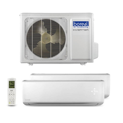 Boreal BRISA 24,000 BTU Dual Zone Wall Mount Ductless Mini Split System (12k, 12k) 230V