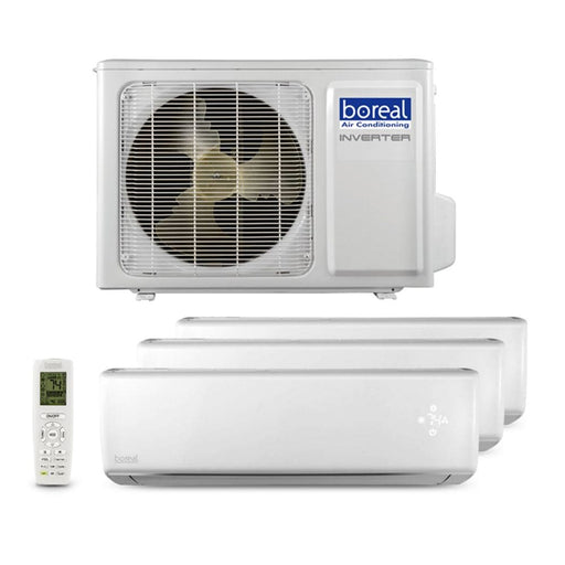 Boreal BRISA 24,000 BTU Tri Zone Wall Mount Ductless Mini Split System (9k, 9k, 9k) 230V