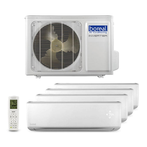 Boreal BRISA 42,000 BTU Quad Zone Wall Mount Ductless Mini Split System (9k, 9k, 9k, 18k) 230V