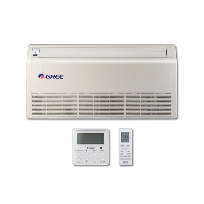 Gree 36,000 BTU Multi21+ Dual-Zone Floor/Ceiling Mini Split Air Conditioner Heat Pump 208/230V SEER 21 (12-18)