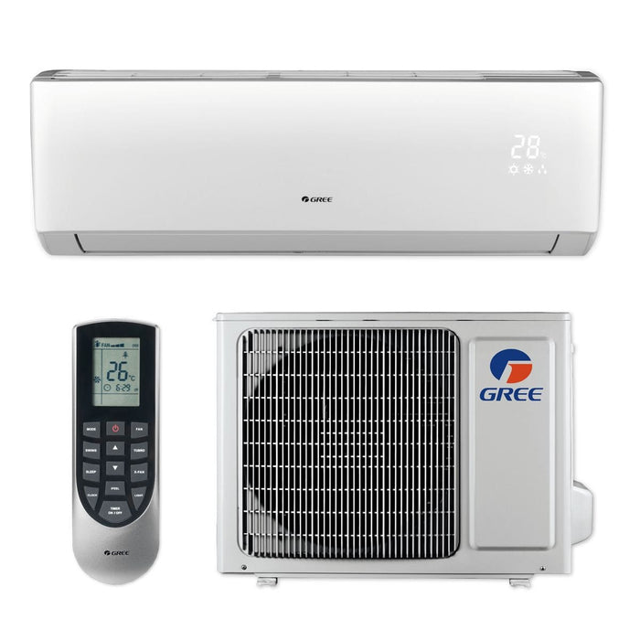 Gree 12,000 BTU 16 SEER LIVO+ Wall Mount Ductless Mini Split Air Conditioner Heat Pump 208/230V