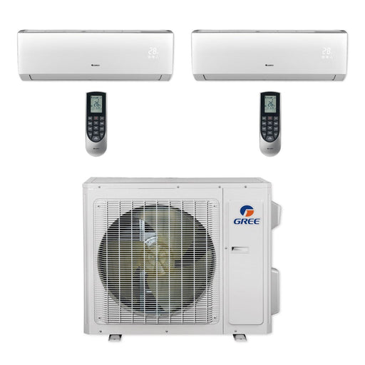Gree 24,000 BTU Multi21+ Dual-Zone Wall Mount Mini Split Air Conditioner Heat Pump 208/230V SEER 21 (9-12)