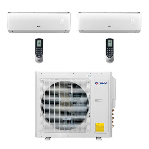 Gree 30,000 BTU Multi21+ Dual-Zone Wall Mount Mini Split Air Conditioner Heat Pump 208/230V SEER 21 (9-12)