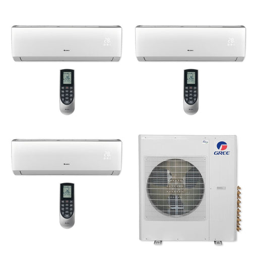 Gree MULTI36CLIV305 - 36,000 BTU Multi21+ Tri-Zone Wall Mount Mini Split Air Conditioner Heat Pump 208-230V (9-12-18)