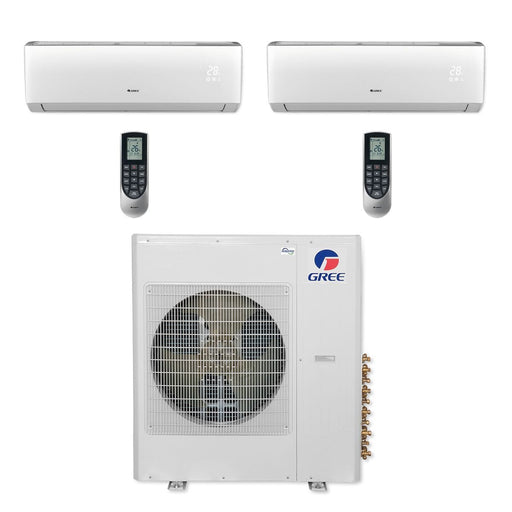 Gree 36,000 BTU Multi21+ Dual-Zone Wall Mount Mini Split Air Conditioner Heat Pump 208/230V SEER 21 (18-18)