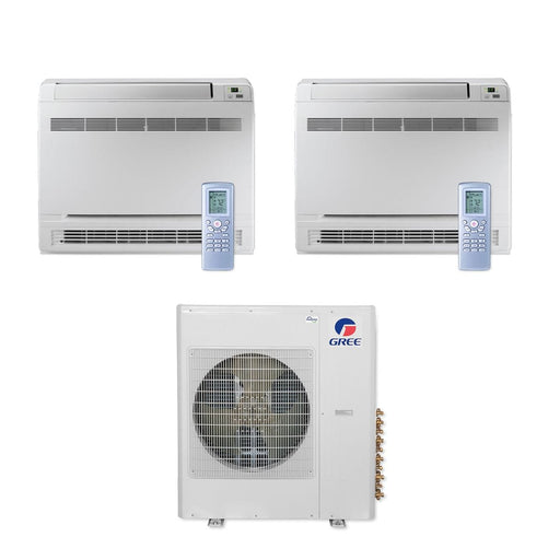 Gree MULTI42CCONS204 - 42,000 BTU Multi21+ Dual-Zone Floor Console Mini Split Air Conditioner Heat Pump 208-230V (12-12)