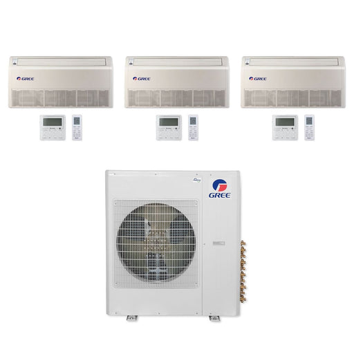 Gree 42,000 BTU Multi21+ Tri-Zone Floor/Ceiling Mini Split Air Conditioner Heat Pump 208/230V SEER 21 (12-12-12)
