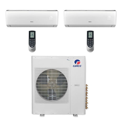 Gree 42,000 BTU Multi21+ Dual-Zone Wall Mount Mini Split Air Conditioner Heat Pump 208/230V SEER 21 (24-24)