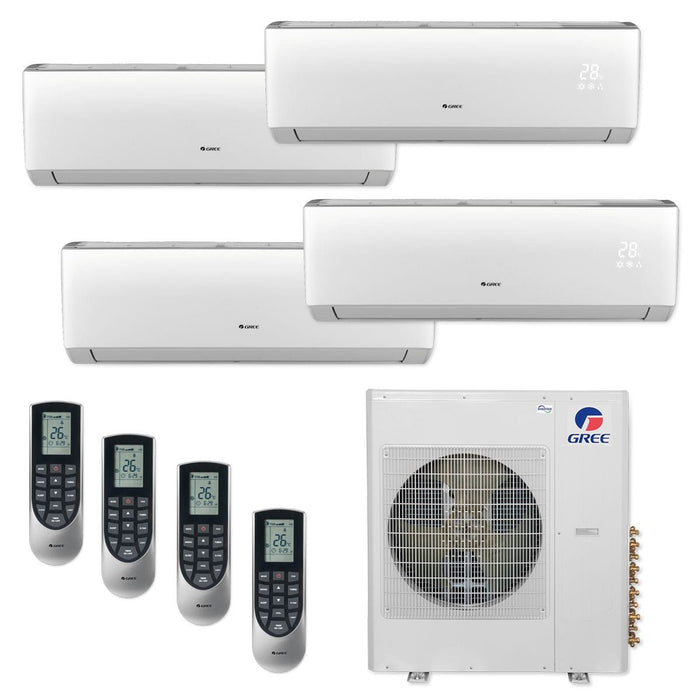 Gree MULTI42CLIV401 - 42,000 BTU Multi21+ Quad-Zone Wall Mount Mini Split Air Conditioner Heat Pump 208-230V (9-9-9-12)