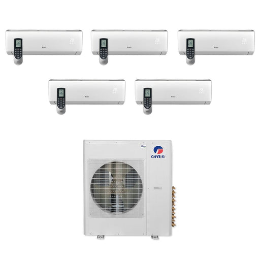 Gree MULTI42CLIV501 - 42,000 BTU Multi21+ Penta-Zone Wall Mount Mini Split Air Conditioner Heat Pump 208-230V (9-9-9-9-12)