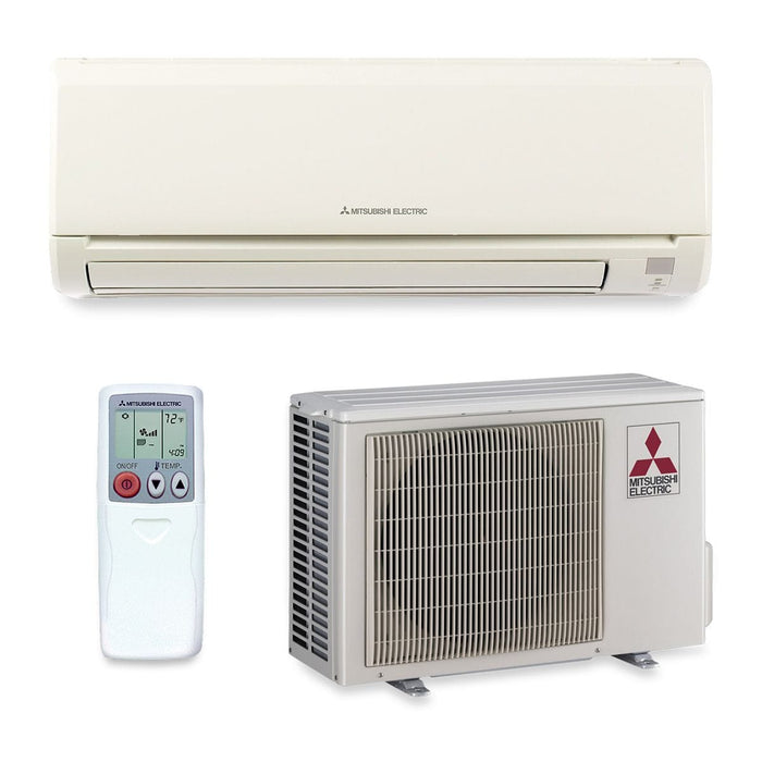 Mitsubishi 9,000 BTU 24.6 SEER Wall Mount Ductless Mini Split Air Conditioner ONLY 208-230V