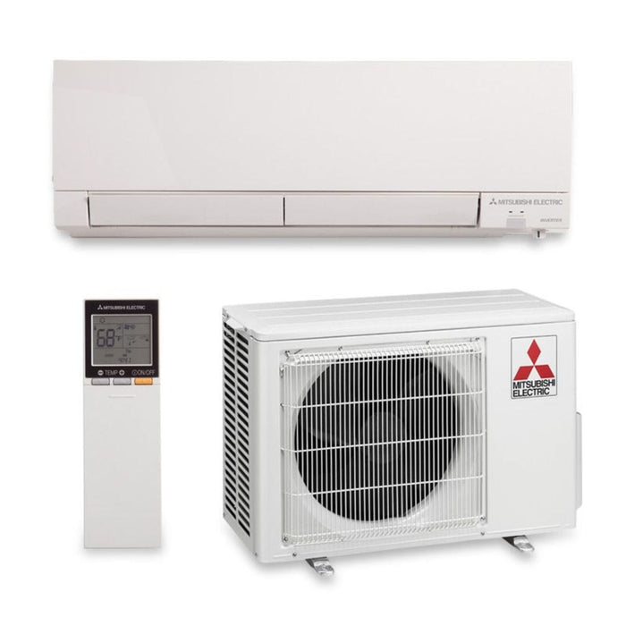 Mitsubishi 12,000 BTU 26.1 SEER Hyper Heat Wall Mount Ductless Mini Split Air Conditioner Heat Pump 208-230V
